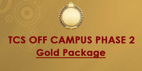 TCS OFF Campus Phase II- Preparation Gold Package